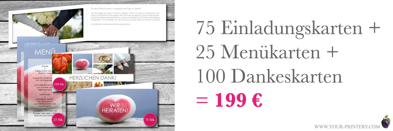 Hochzeitsset für 199€